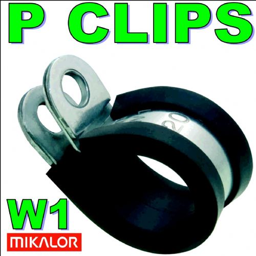 8mm W1 EPDM Rubber Lined Metal P Clip